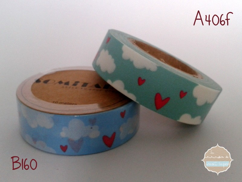Washi Tape Nubes Tuquesa