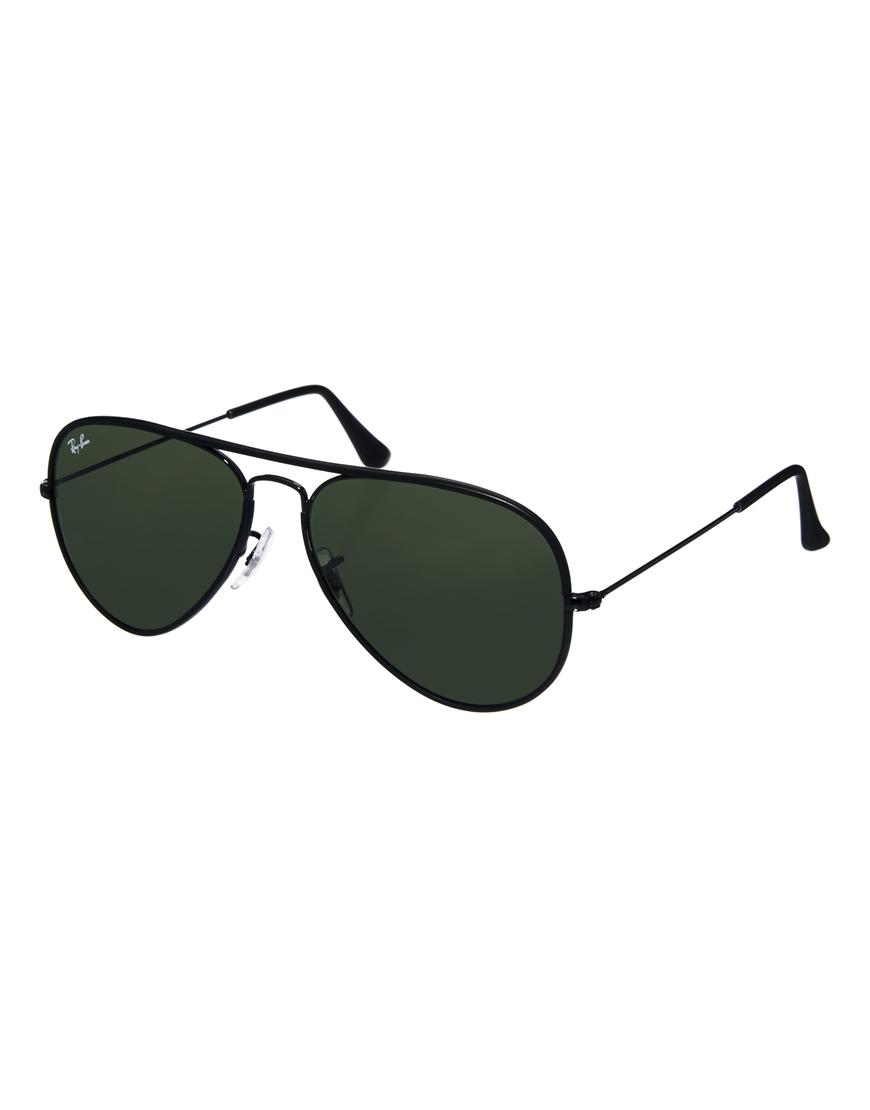 Gafas de sol negras Aviator de Ray-Ban, gafas mujer