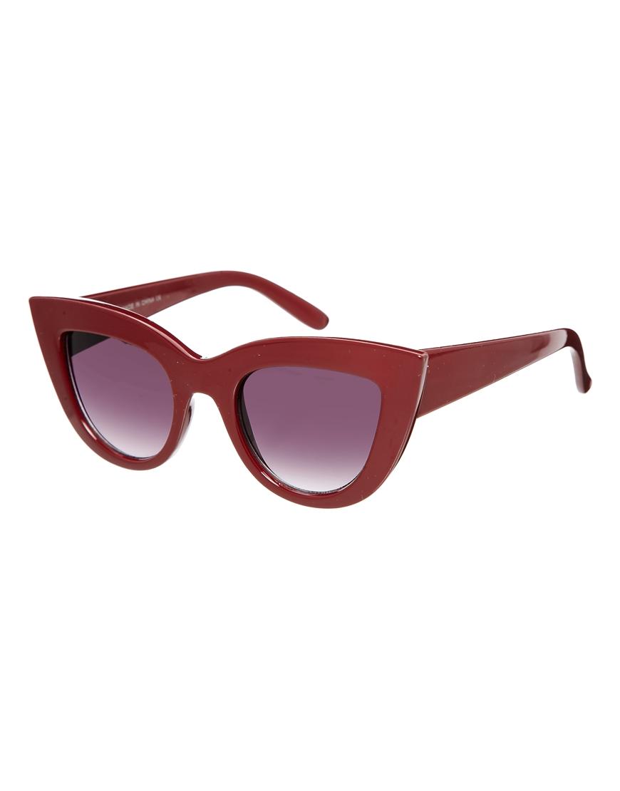 Gafas de sol ojos de gato, parte superior plana , gafas de sol moda