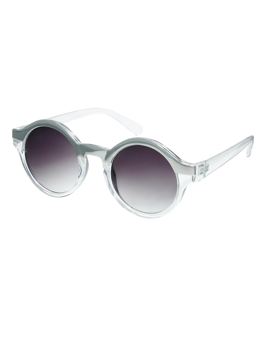 Gafas de sol redondas con parte superior metálica , gafas mujer