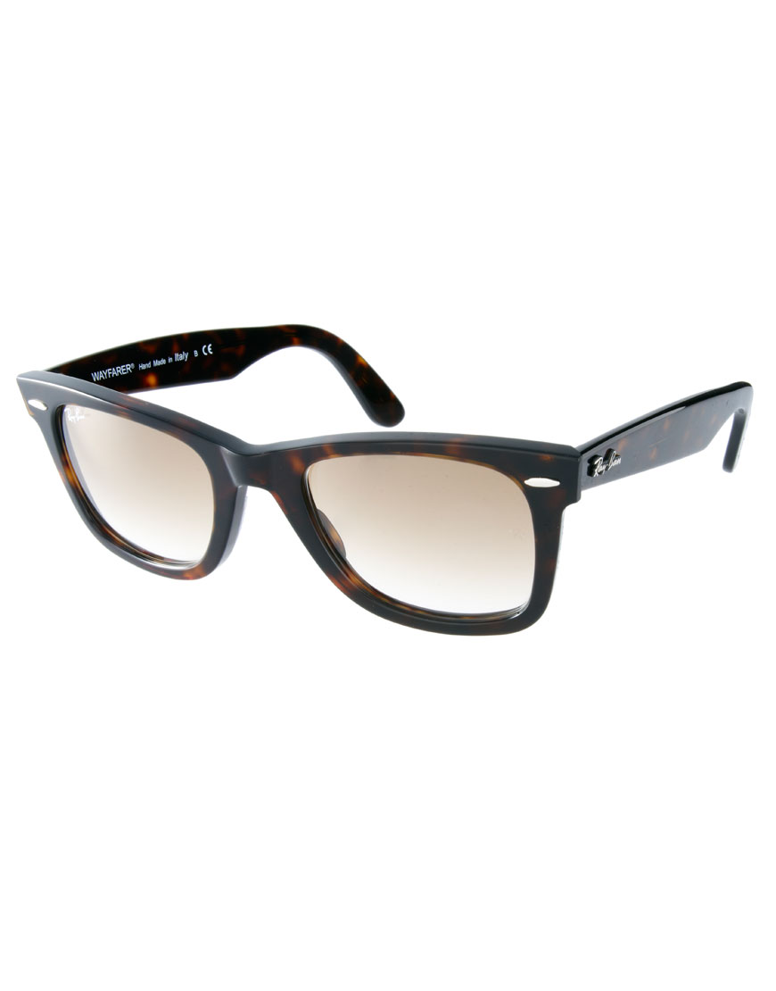 Gafas de sol de carey con lentes degradadas, moda en gafas de sol