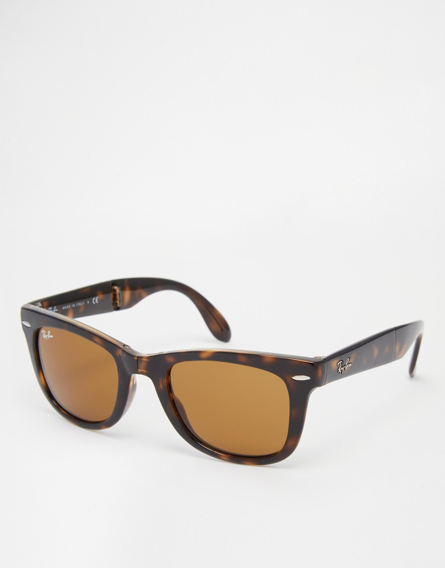 Gafas de sol wayfarer plegables de Ray-Ban, gafas moda