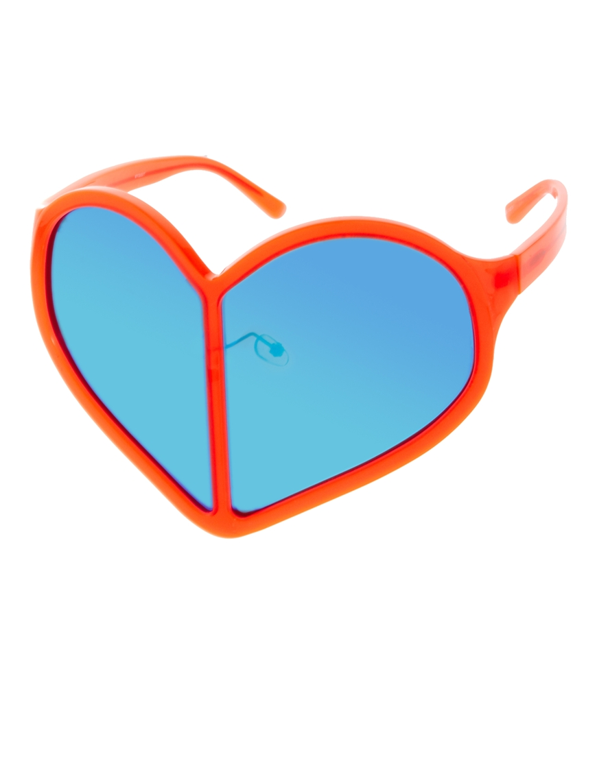 Linda Farrow Mirrored Heart Sunglasses, gafas de sol emporio armani