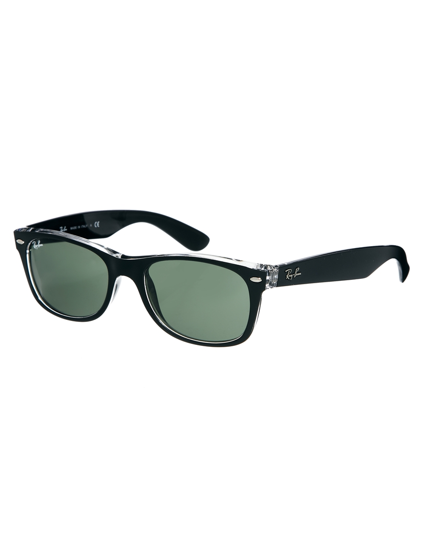Gafas de sol en negro y transparente , moda gafas