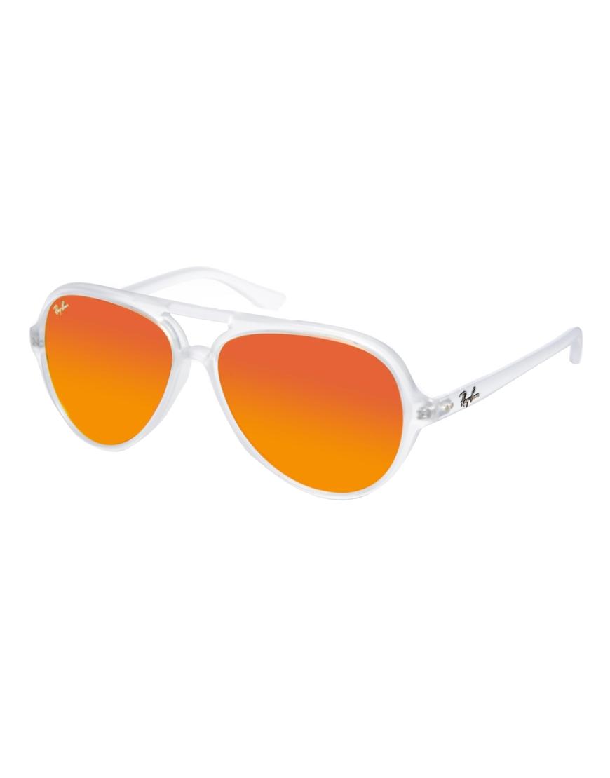 Ray-Ban Plastic Mirrored Aviator , gafas de sol estilo retro