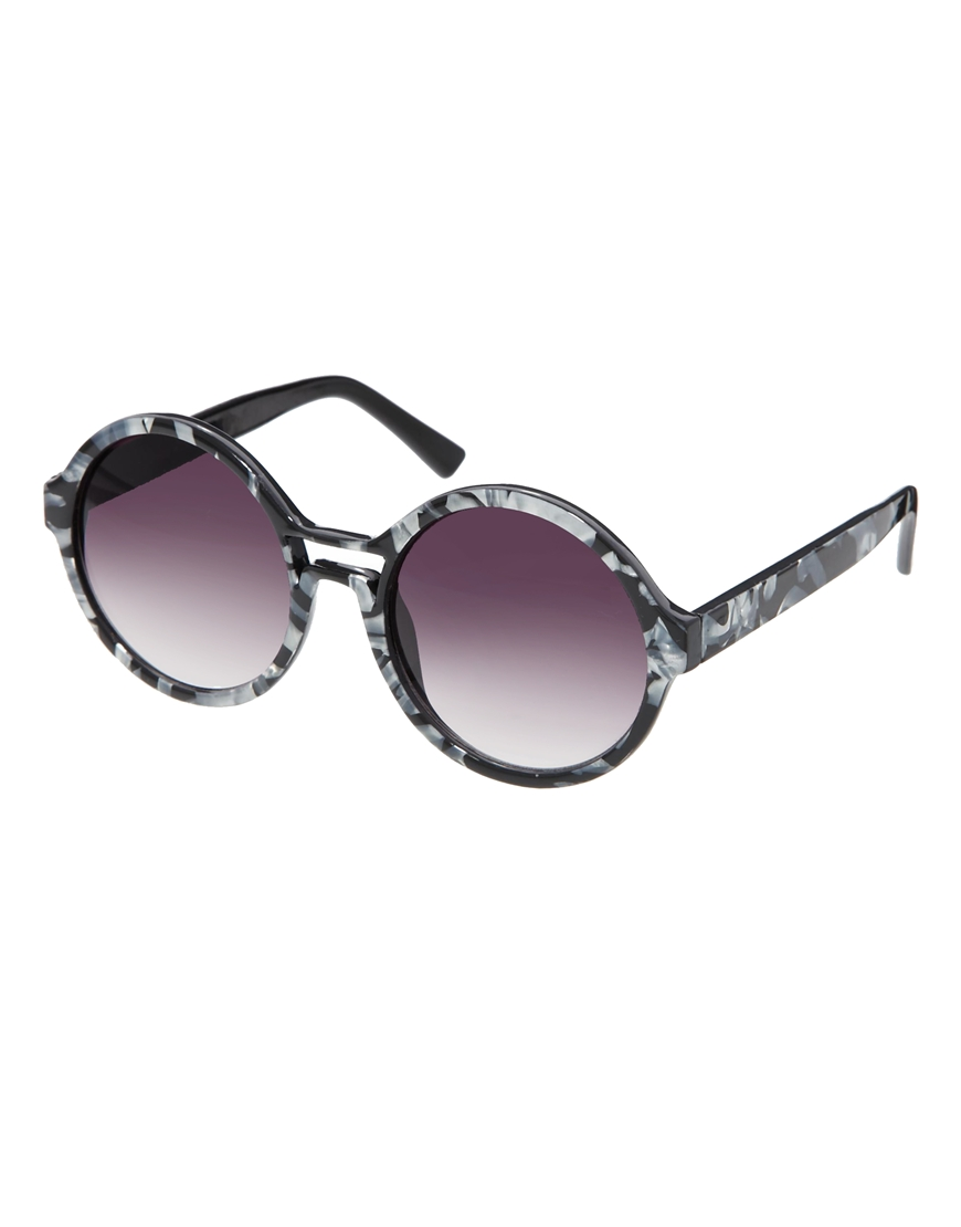 ASOS Round Sunglasses With Cut Out Detail