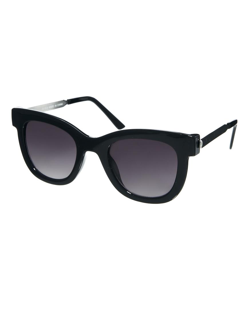 Gafas de sol de estilo retro con patillas metálicas