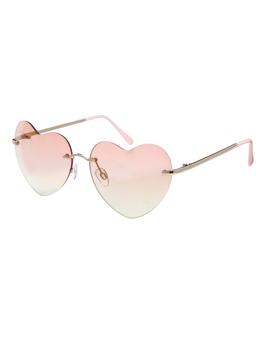 Gafas de sol en forma de corazón