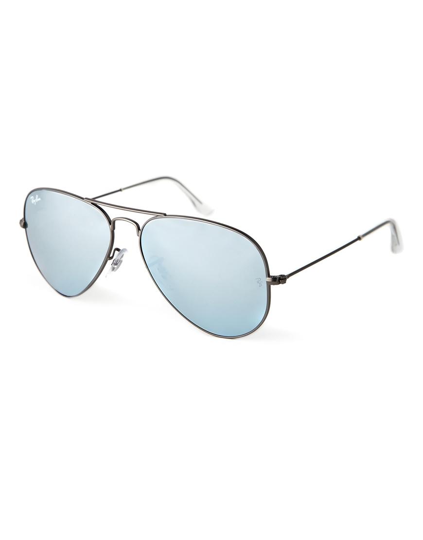 Gafas de sol en plateado mate Aviator de Ray-Ban
