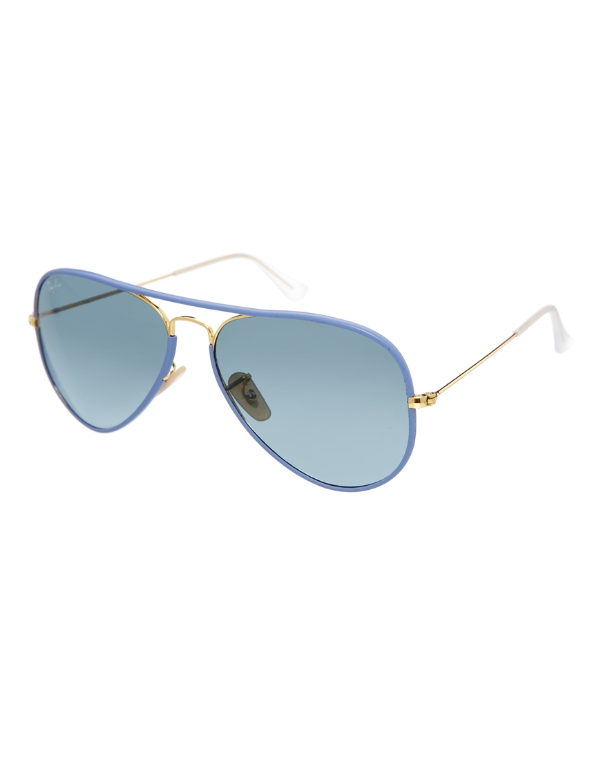Gafas de sol estilo aviador azules de Ray-Ban
