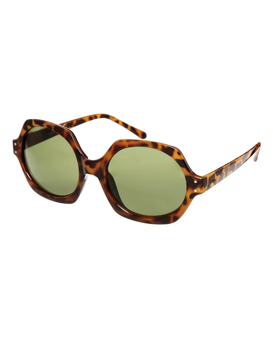 Gafas de sol con forma hexagonal , moda gafas