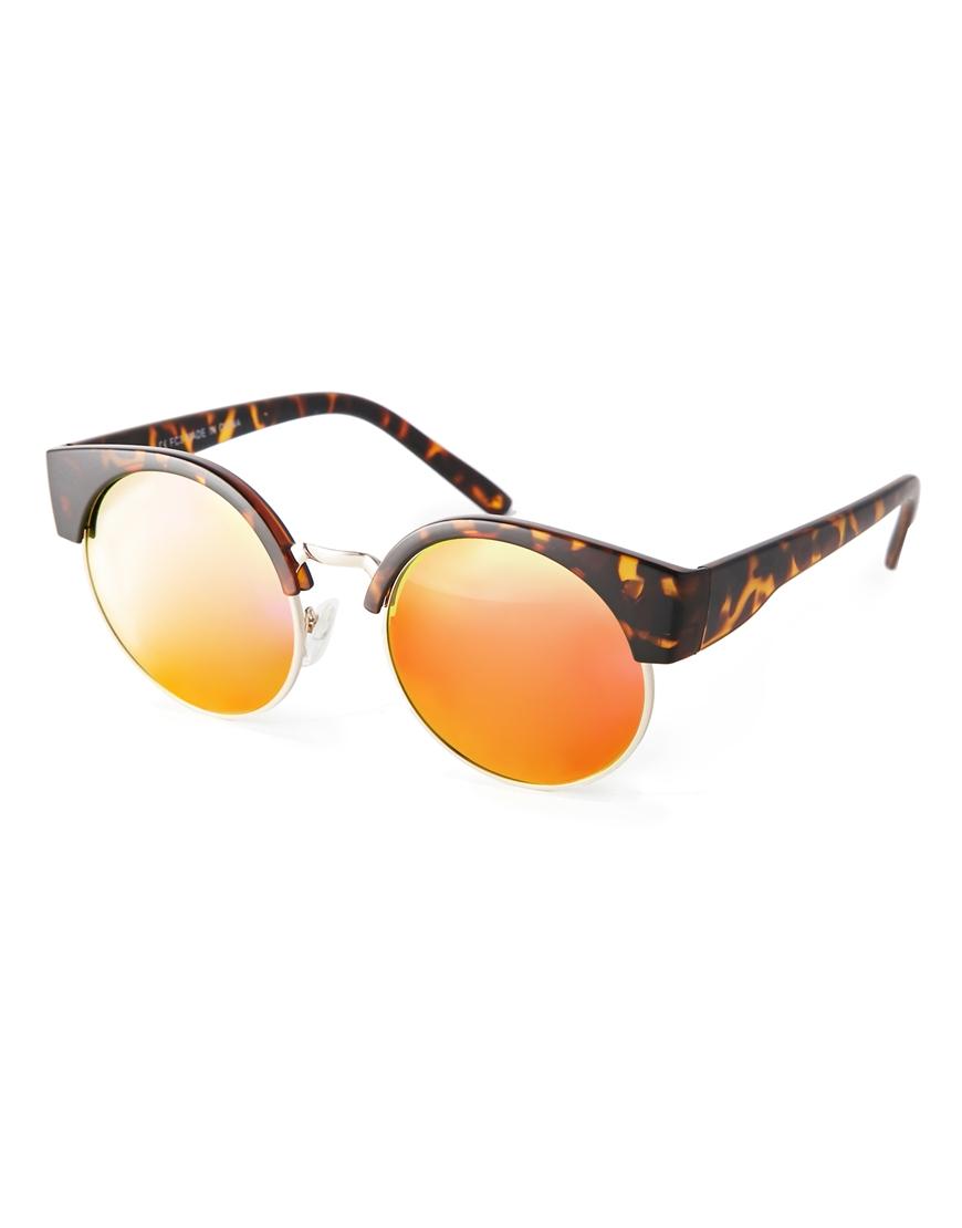 Gafas de sol con mitad de ojos de gato , las gafas de sol de moda