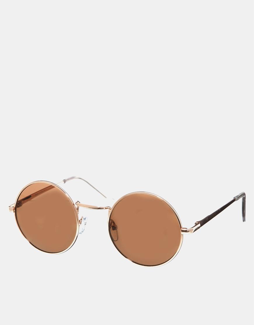 Gafas de sol con montura pequeña y redonda de metal , gafas mujer