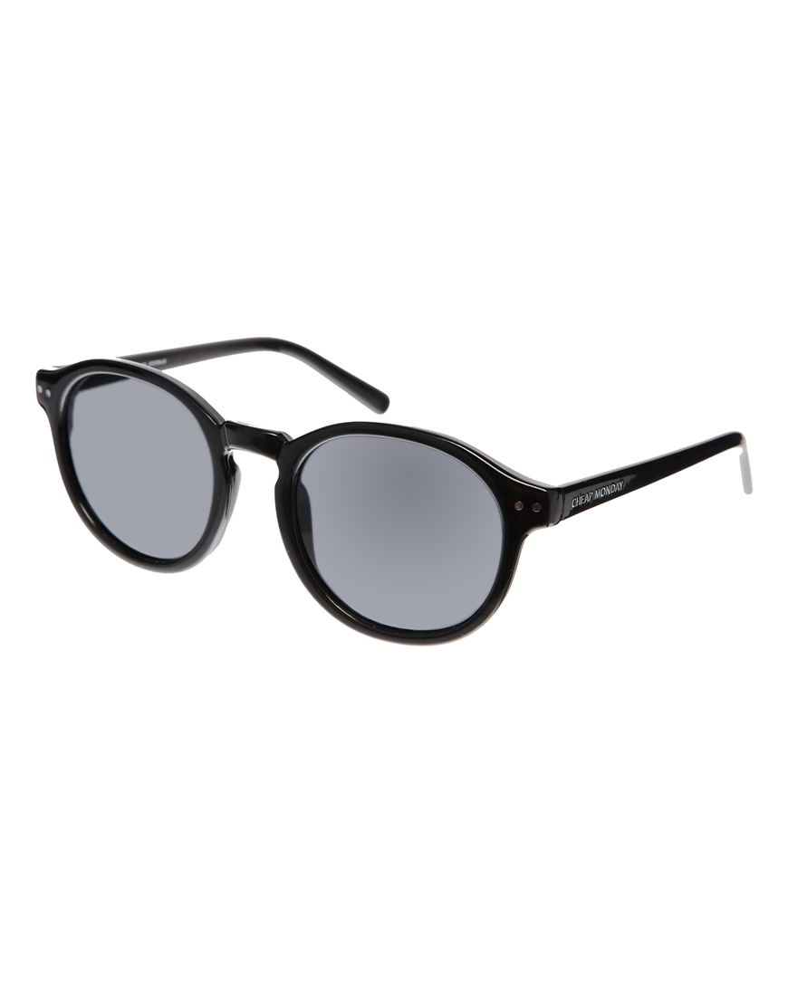 Gafas de sol con montura redonda en negro , gafas moda