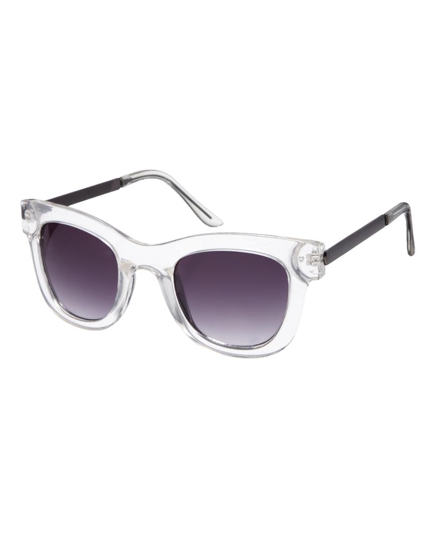 Gafas de sol cuadradas Crystal, gafas de sol estilo retro