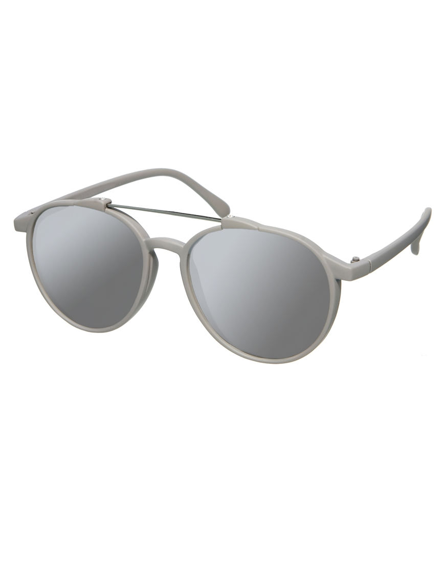 Gafas de sol estilo aviador con barra de goma gris , moda gafas