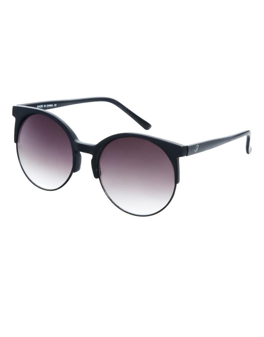 Gafas de sol extragrandes de media montura redondeada , gafas mujer
