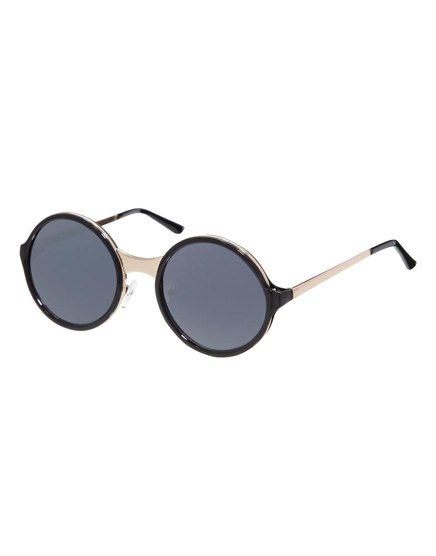 Gafas de sol, montura redonda, detalle puente de metal, gafas mujer